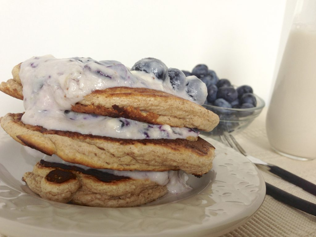 Protein Pancakes with Healthy Blueberry Cheesecake ...