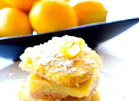 Healthy Meyer Lemon Bars