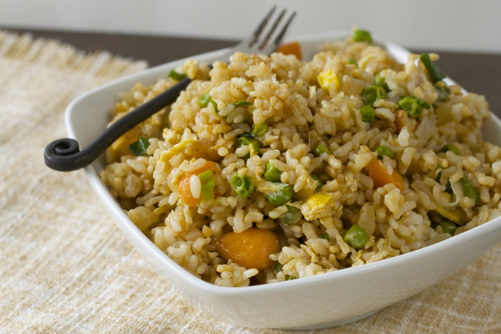 """Healthy """"Fried"""" Rice. Click here for the recipe!"""