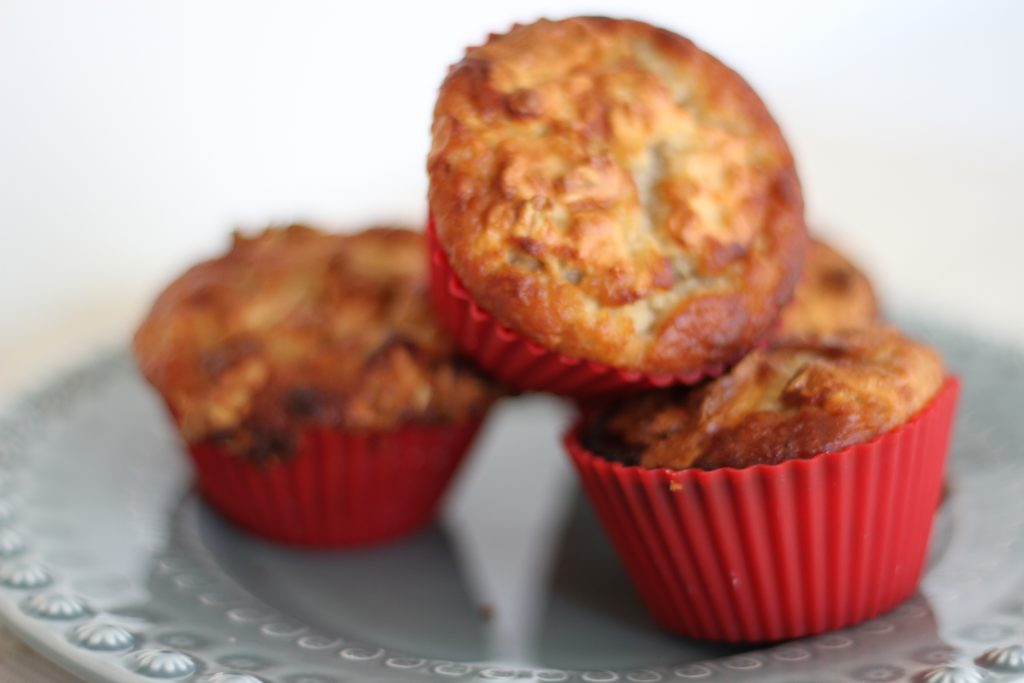 Super Healthy Banana Nut Muffins with Streusel Topping