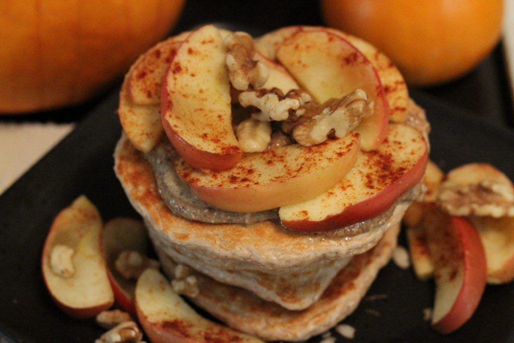 Apple Spice Protein Pancakes. Recipe