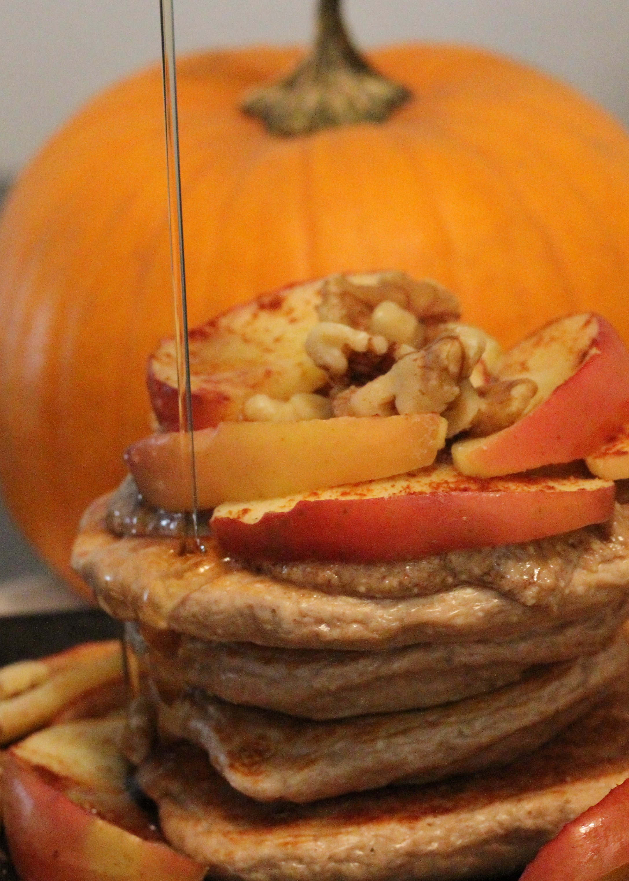 Apple Spice Protein Pancakes
