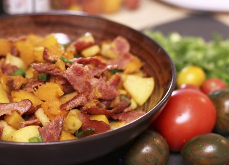 Butternut Squash Apple Bacon Hash