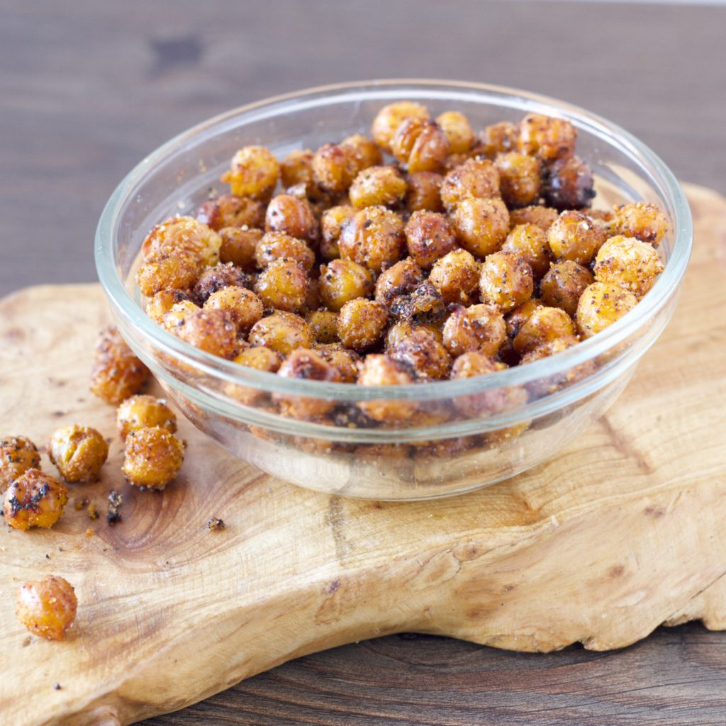 Healthy Chickpea Poppers. You'll love the addictive little snack! Click here for the recipe: https://proshapefitness.com/2013/12/29/chickpea-poppers/
