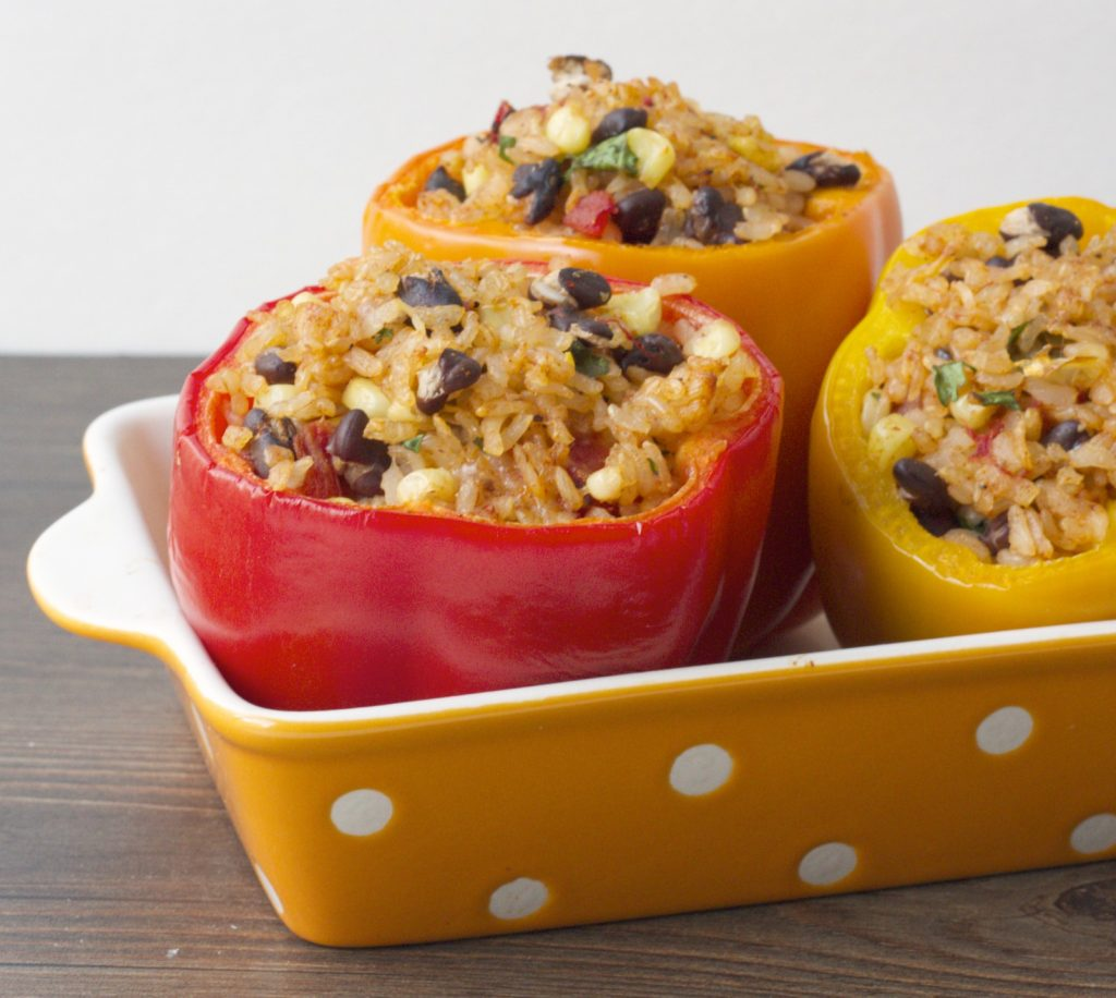 Healthy Mexican Brown Rice Stuffed Peppers